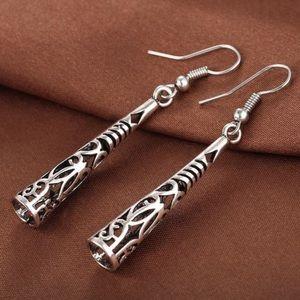 Just IN! Vintage Hollow Silver Dangle Earrings